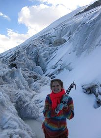 Not only farmers are affected. At the current rate of glacial retreat, future generations of travelers will not be able to enjoy the challenge of ice-climbing near La Paz. Image Credit: Ioulia Fenton, July 2010.