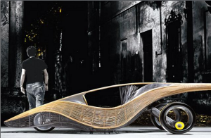 The 'Phoenix' is the world's first biodegradable concept car, made from bamboo and rattan. Photo credit: http://newsinfo.inquirer.net/.