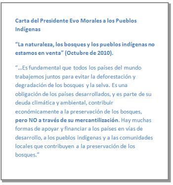 Carta Evo Morales